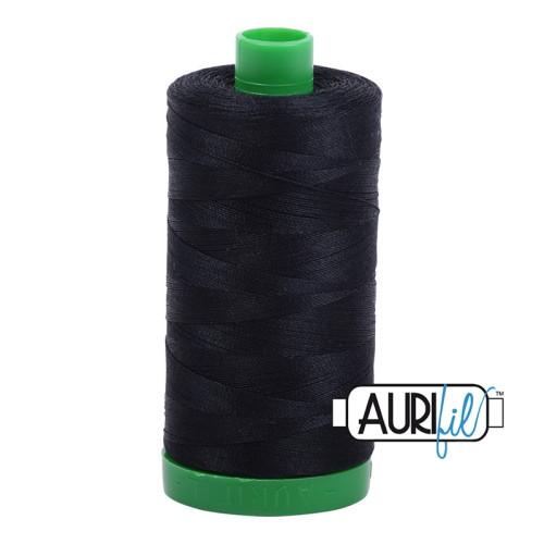 Black Cotton Mako Thread - 40wt - 1092 yards (1000m) - MK40-2692