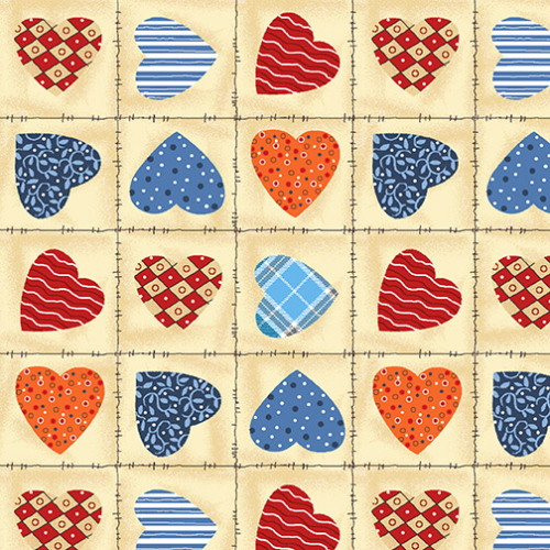 MINI HEART PRINT FABRIC - 9337-44