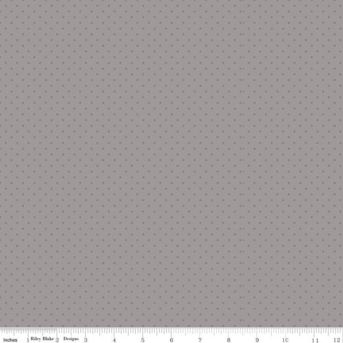 SWISS DOT TONE ON TONE GRAY FABRIC - C790 Gray