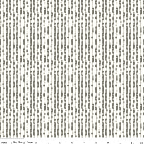 CHARCOAL GRAY STRIPE ON WHITE FABRIC - C10188 Charcoal