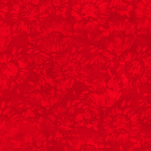 """RED ON RED """"SKETCHY FLOWER"""" MARBLE 108"""" WIDE BATIK BACKING - 611Q-1 Red"""