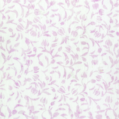 LILAC MINI TULIPS PRINT BATIK FABRIC - 2167Q-X