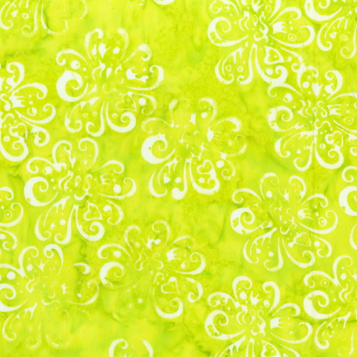 LIME DOTTED BUDS PRINT BATIK FABRIC - 2165Q-X