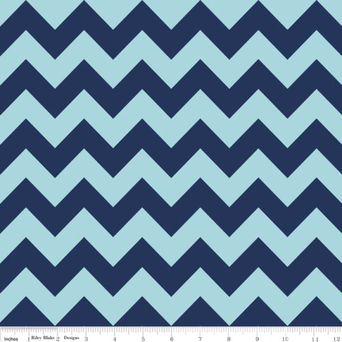 MEDIUM NAVY BLUE & LT BLUE TONE ON TONE CHEVRONS