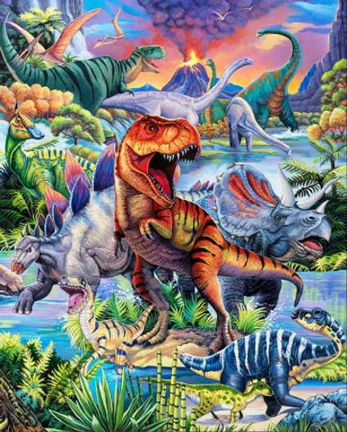 """DINO WORLD"" DIGITAL PANEL - AL-4170-0C-1 Multi"