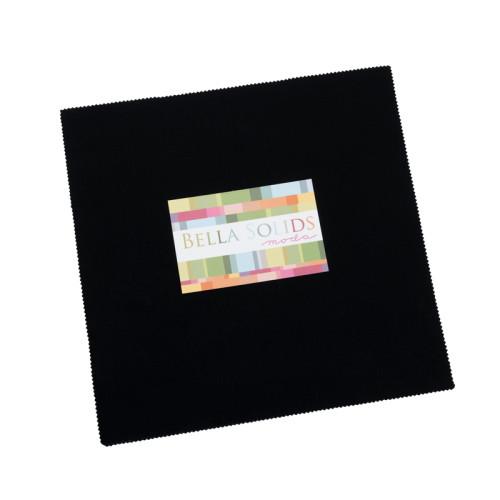 "BELLA SOLIDS BLACK 10"" x 10"" SQUARES (LAYER CAKE) 42 PCS - 9900LC-99 - Moda"