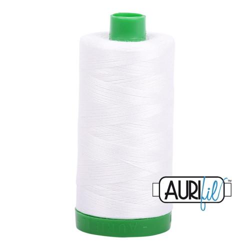 Natural White Cotton Mako Thread - 40wt - 1092 yards (1000m) - MK40-2021