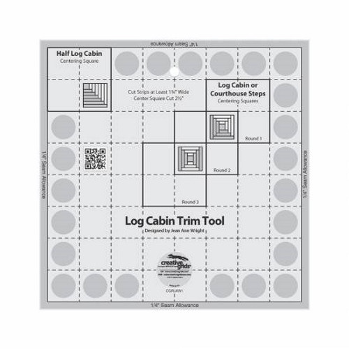 "8"" Log Cabin Trim Tool Quilt Ruler - CGRJAW1"