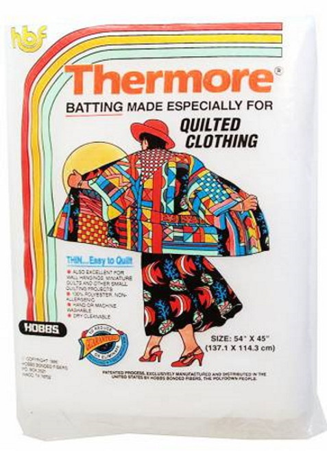 "Thermore Ultra Thin Batting - 54"" x 45"" - TM54"