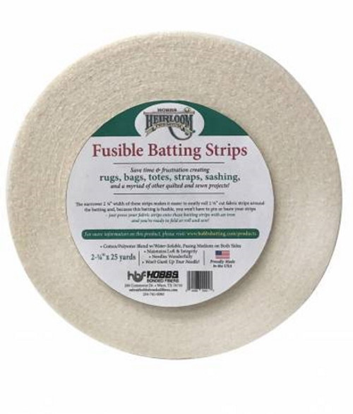 Heirloom Fusible Blended Batting Strips 2-1/4in x 25yds - HFBS-25