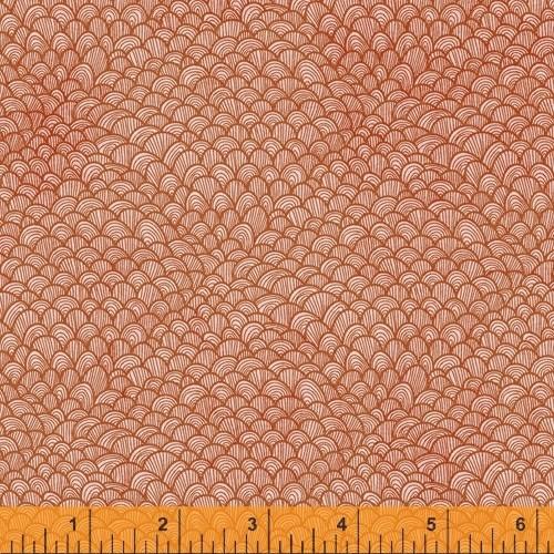 CORAL WAVE SCALLOP FABRIC - 52104-7 Coral