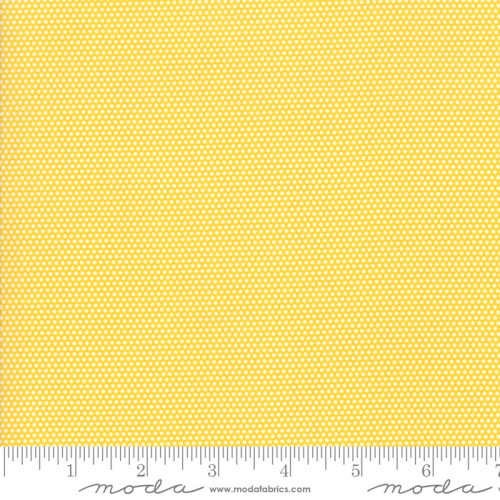 WHITE MINIATURE DOTS ON YELLOW FABRIC - 21777-13
