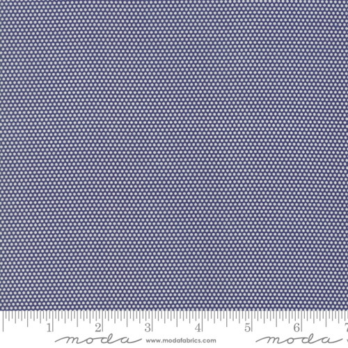 WHITE MINIATURE DOTS ON NAVY BLUE FABRIC - 21777-15