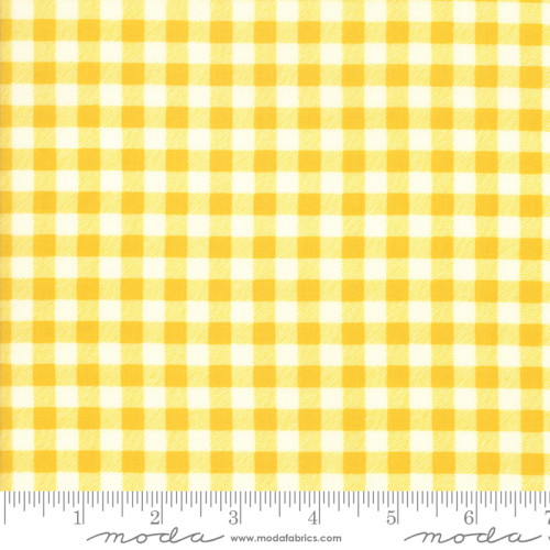 YELLOW AND WHITE CHECKED FABRIC - 21778-13
