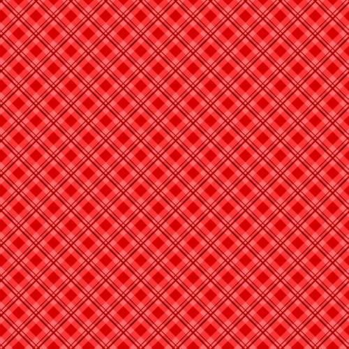 RED PLAID FABRIC - 513-10