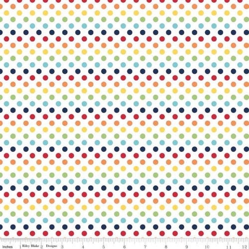 RAINBOW SMALL DOT FABRIC - C350-01 Rainbow