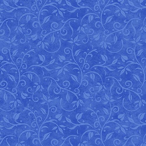 LIGHT BLUE VINES ON BLUE FABRIC - 1763-77