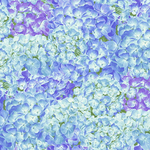 PACKED ASSORTED COLOR HYDRANGEAS FABRIC - 1758-75