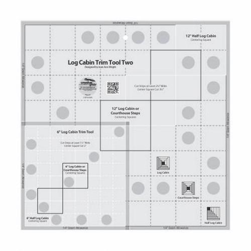 Log Cabin Trim Tool Two 6in & 12in Blocks Quilt Ruler - CGRJAW2