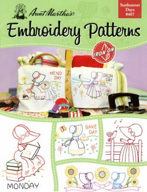 Aunt Martha's Embroidery Patterns Book - Sunbonnet Day #407