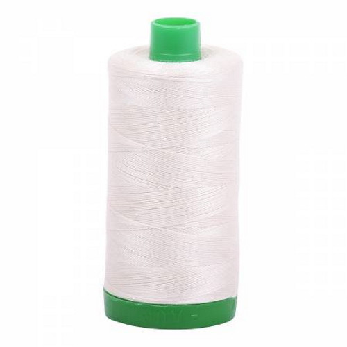 Silver White Cotton Mako Thread - 40wt - 1092 yards (1000m) - MK40-2309