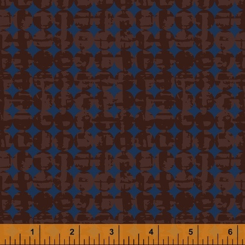 LEATHER BROWN ON LIGHTER BROWN SMUDGE AND CIRCLE FABRIC - 51575-7