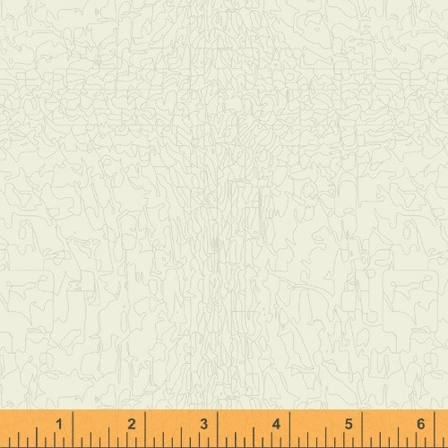 NOBLE GRAY 'PAINT' PATTERN ON OFF WHITE FABRIC - 51577-6