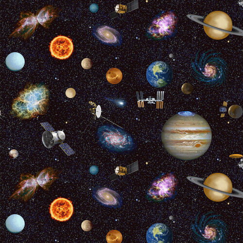 OUTER SPACE FABRIC - 5303-97
