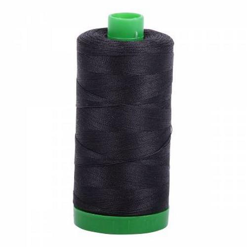 Very Dark Gray Cotton Mako Thread - 40wt - 1092 yards (1000m) - MK40-4241