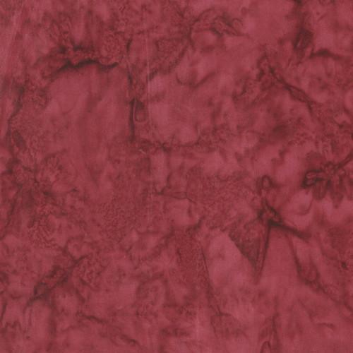 MERLOT RED MARBLED BATIK FABRIC - 100Q-1482