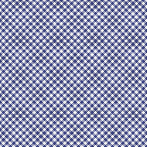 BUFFALO CHECK BLUE GINGHAM FABRIC - 120-21974