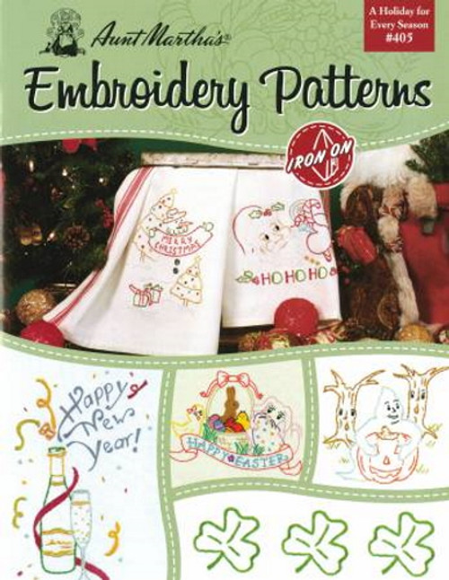 Aunt Martha's Embroidery Patterns Book - A Holiday for Every Season #405 - B405