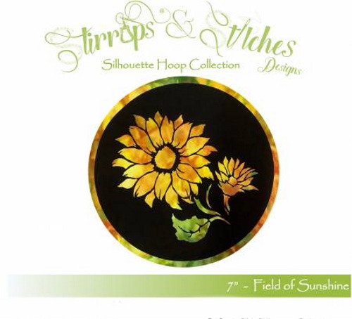 """Field of Sunshine 7"""" Stained Glass Look Hoop Kit - FOS-7IN"""