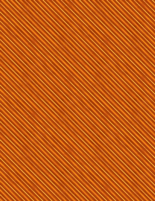 Orange Diagonal Stripe Fabric - 3017-27593-885