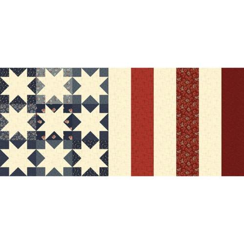 """NINE STAR FLAG MINI TABLE RUNNER PATTERN - P152-NINESTAR- Makes 12"""" x 27"""" Runner - Buttermilk Basin Design Co."""