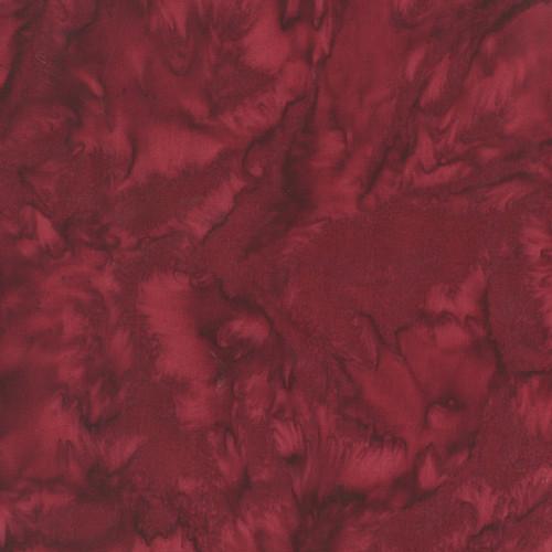 BORDEAUX RED MARBLED BATIK FABRIC - 100Q-183 Bordeaux