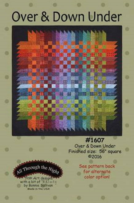 Over and Down Under Quilt Pattern - AT-1607