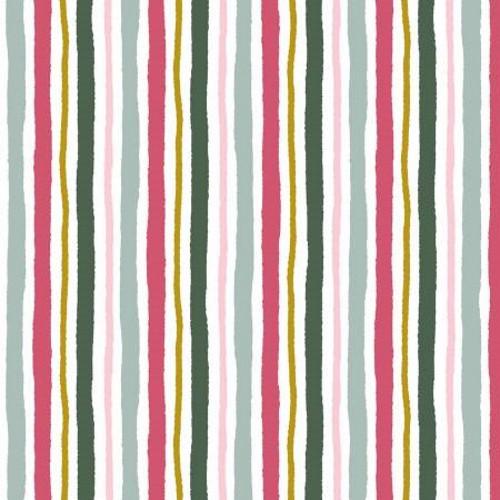 Multi-Colored Stripes Fabric - AUFR4374-MU