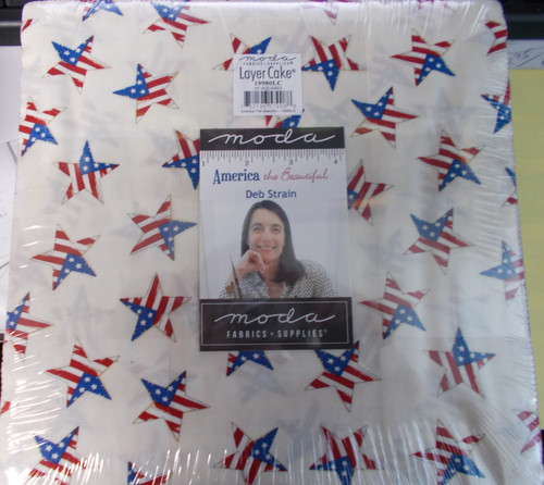"""America the Beautiful Layer Cake - 42 10"""" Squares - 19980LC"""