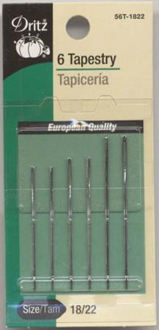 Tapestry Needles Sizes 18/22 6 ct - 56T-18-22
