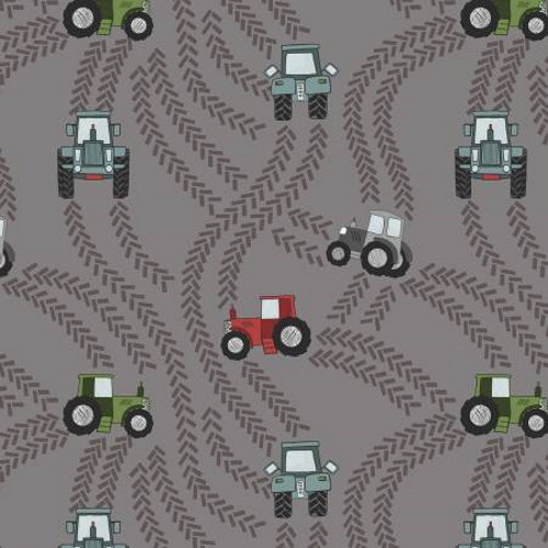 Tractor Trails on Muddy Gray - A533-3