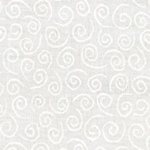 White Swirls on White - 9920-11