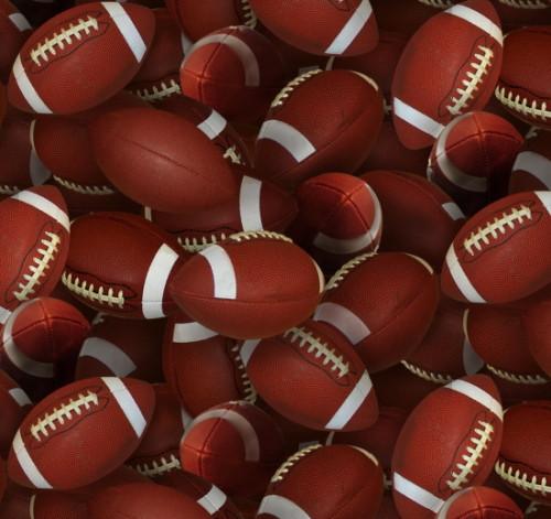 Tossed Footballs - 130Brown