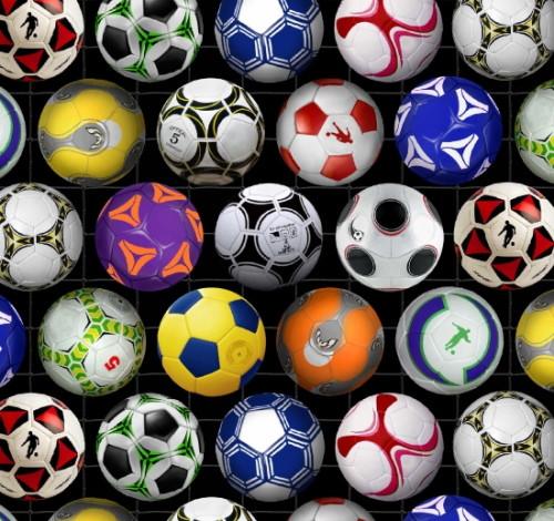 Tossed Soccer Balls - 276Black