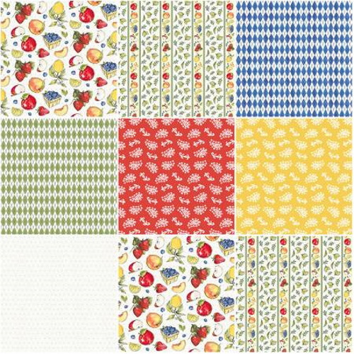 """Fruit Stand Charm Pack - 42 5"""" Squares - FRUS005X5 - Fruit Stand - P & B Textiles"""