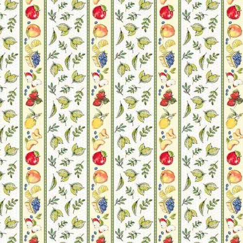 Multi Fruit Border Stripe - FRUS04366-MU