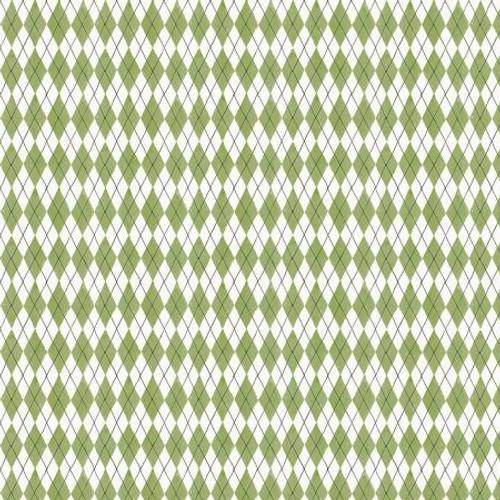Green & White Diamonds Fabric - FRUS04367-G