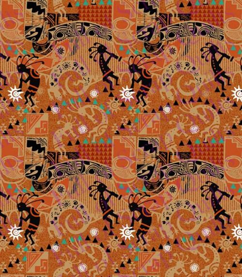 Allover Kokopelli Fabric - 10361