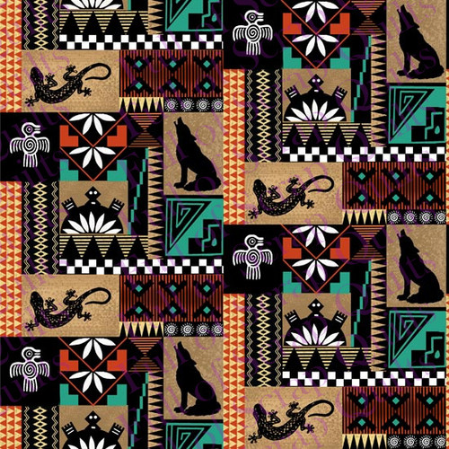 Tribal Patch Fabric - 10359