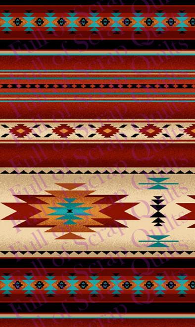 Terra Cotta Southwest Stripe Fabric - 201Terracotta